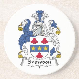 Escudo de la familia de Snowdon Posavasos Diseño