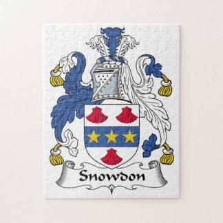 Escudo de la familia de Snowdon Puzzles Con Fotos