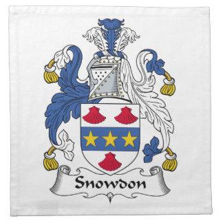 Escudo de la familia de Snowdon Servilleta De Papel