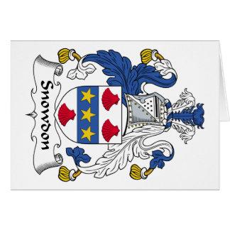 Escudo de la familia de Snowdon Tarjetón
