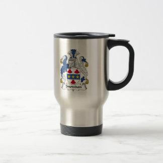 Escudo de la familia de Snowdon Taza De Café