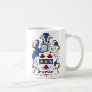 Escudo de la familia de Snowdon Tazas