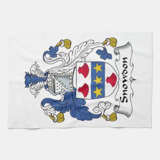 Escudo de la familia de Snowdon Toalla