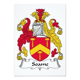 Escudo de la familia de Soame Invitación 12,7 X 17,8 Cm