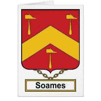 Escudo de la familia de Soames Tarjeta De Felicitación