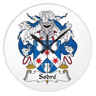 Escudo de la familia de Sodre Reloj Redondo Grande