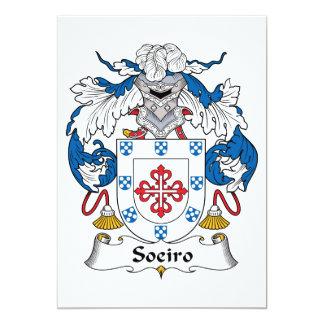 Escudo de la familia de Soeiro Invitación Personalizada