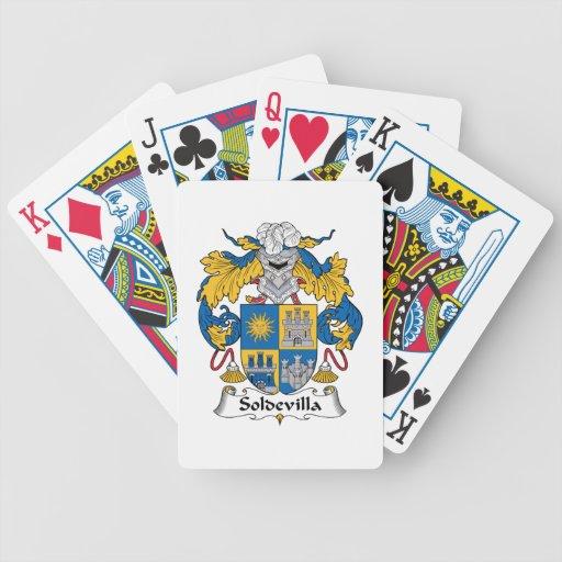 Escudo de la familia de Soldevilla Baraja Cartas De Poker