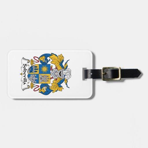 Escudo de la familia de Soldevilla Etiquetas Bolsa