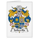 Escudo de la familia de Soldevilla Felicitacion