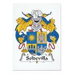 Escudo de la familia de Soldevilla Invitación 12,7 X 17,8 Cm