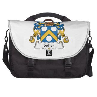 Escudo de la familia de Solier Bolsas Para Portatil