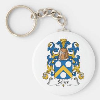Escudo de la familia de Solier Llavero Redondo Tipo Pin