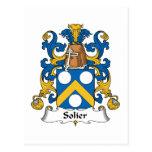 Escudo de la familia de Solier Tarjeta Postal