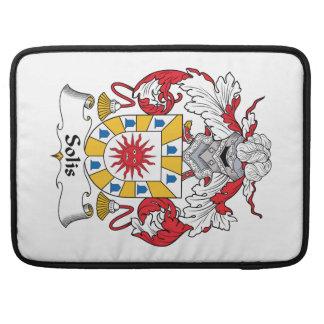Escudo de la familia de Solis Funda Macbook Pro