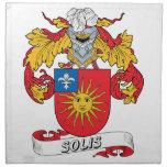Escudo de la familia de Solis Servilletas Imprimidas