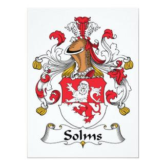Escudo de la familia de Solms Invitación 16,5 X 22,2 Cm