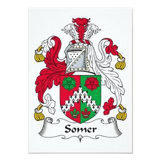 Escudo de la familia de Somer Invitación 12,7 X 17,8 Cm