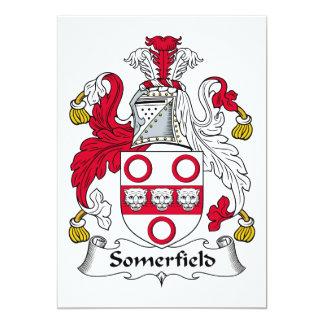 Escudo de la familia de Somerfield Invitación 12,7 X 17,8 Cm