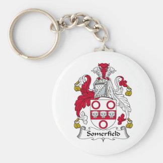 Escudo de la familia de Somerfield Llavero Redondo Tipo Pin