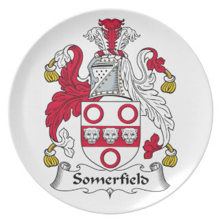 Escudo de la familia de Somerfield Plato De Comida