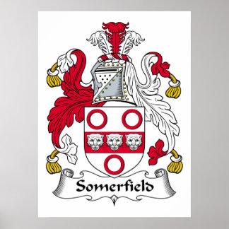Escudo de la familia de Somerfield Póster
