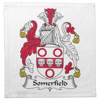 Escudo de la familia de Somerfield Servilleta Imprimida