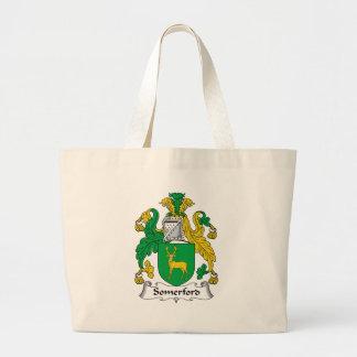Escudo de la familia de Somerford Bolsas Lienzo