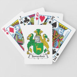Escudo de la familia de Somerford Cartas De Juego