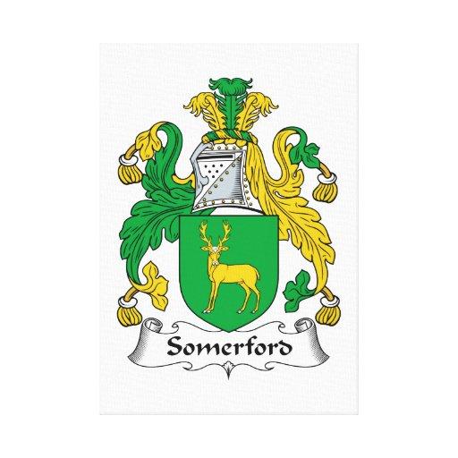 Escudo de la familia de Somerford Impresion En Lona