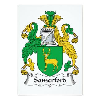 Escudo de la familia de Somerford Invitación 12,7 X 17,8 Cm