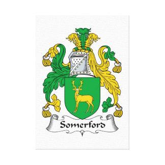 Escudo de la familia de Somerford Lona Envuelta Para Galerías
