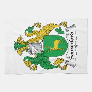 Escudo de la familia de Somerford Toallas De Cocina