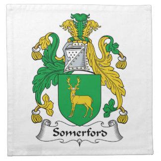 Escudo de la familia de Somerford Servilleta Imprimida