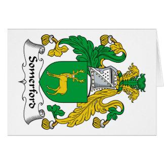 Escudo de la familia de Somerford Tarjeton