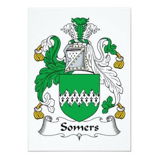 Escudo de la familia de Somers Invitación 12,7 X 17,8 Cm