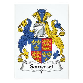 Escudo de la familia de Somerset Invitación 12,7 X 17,8 Cm