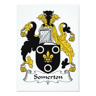 Escudo de la familia de Somerton Invitación 12,7 X 17,8 Cm
