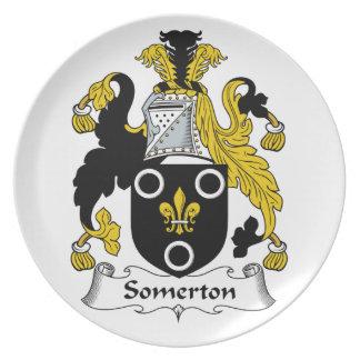 Escudo de la familia de Somerton Platos De Comidas