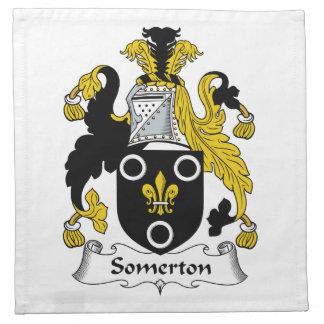 Escudo de la familia de Somerton Servilleta Imprimida