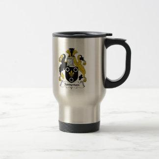 Escudo de la familia de Somerton Tazas De Café