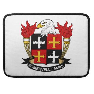 Escudo de la familia de Somervell Funda Para Macbook Pro