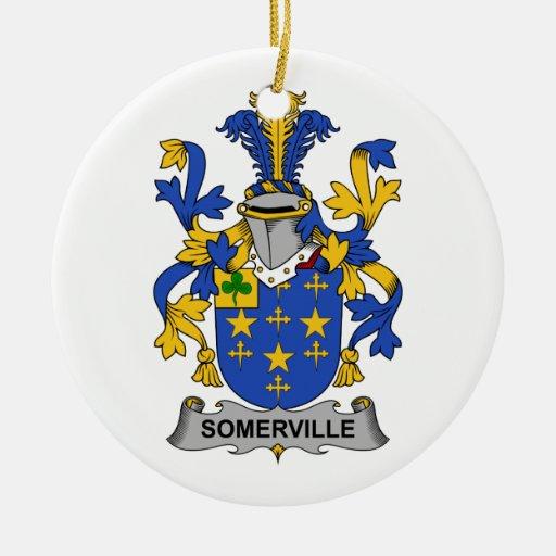 Escudo de la familia de Somerville Adorno Redondo De Cerámica