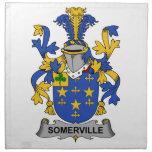 Escudo de la familia de Somerville Servilletas