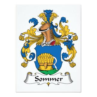 Escudo de la familia de Sommer Invitación 16,5 X 22,2 Cm