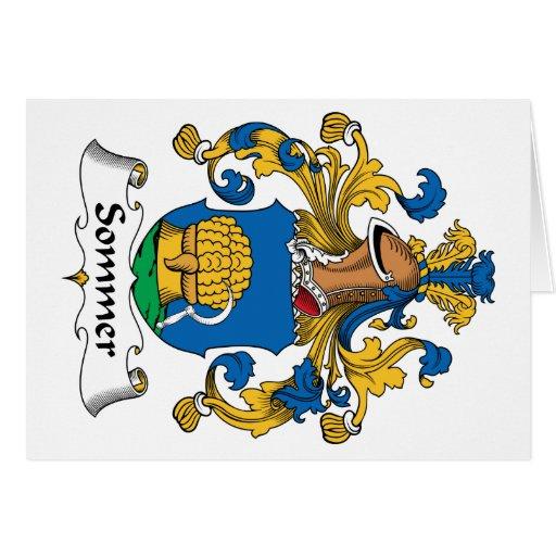 Escudo de la familia de Sommer Tarjetas