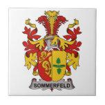Escudo de la familia de Sommerfeld Azulejo Cerámica