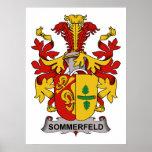 Escudo de la familia de Sommerfeld Poster