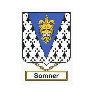 Escudo de la familia de Somner Impresion De Lienzo