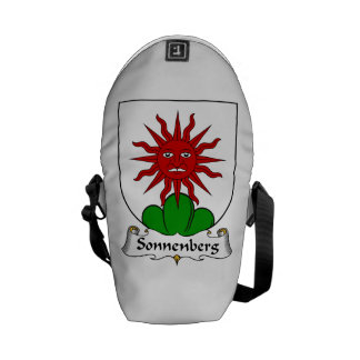 Escudo de la familia de Sonnenberg Bolsas De Mensajería
